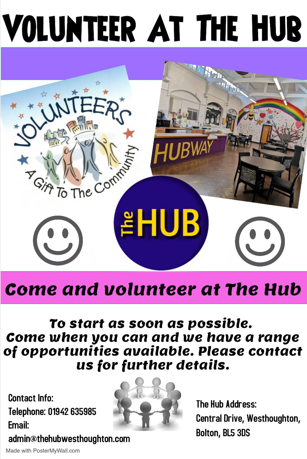Volunteer at The Hub Westhoughton